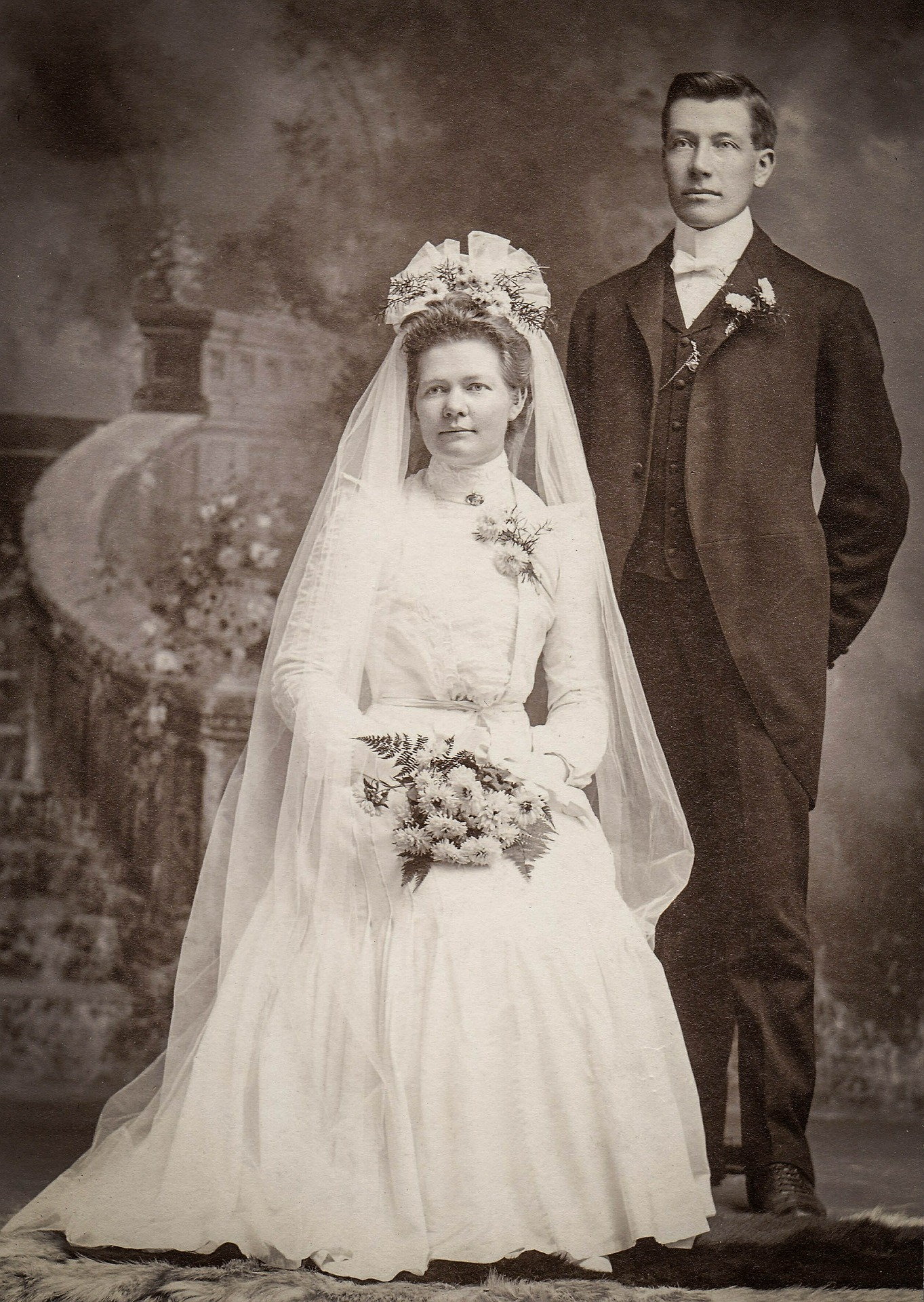 black_and_white_groom_bride_history_of_marriage