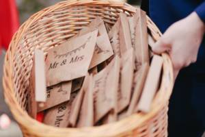 wedding_confetti_mr._mrs._cheers_brown_packages_basket