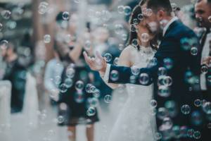 first_dance_bubbles_clear_bride_groom_dancing